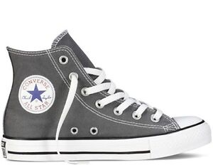 Converse Hi Top All Star Chuck Taylor Charcoal White Mens Womens ... 92fc6b63d