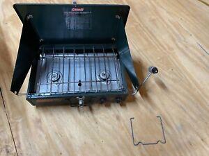Vintage Coleman 2 burner propane camp stove