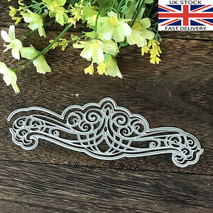 Lace edge border Ornate 3 Piece die set metal cutting die cutter UK Fast Post