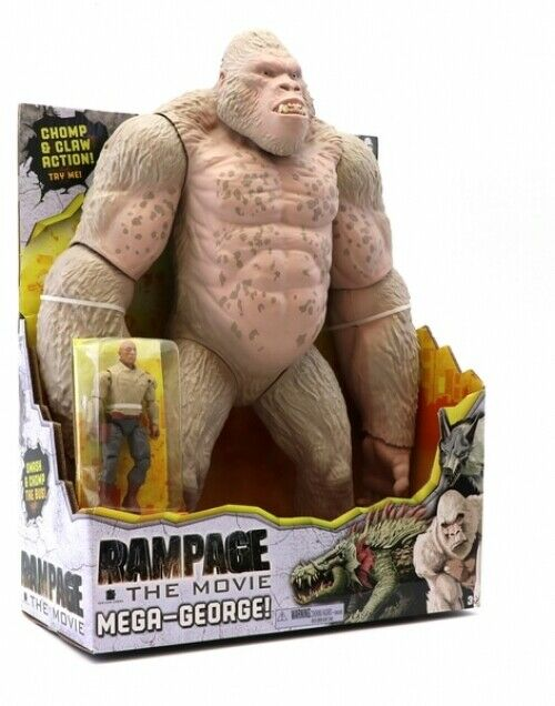 Rampage The Rock Movie Mega George Figure Figure Figure Very Rare Hard To Find IN HAND f9ae7a