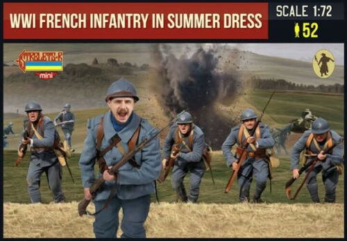 Strelets Models 1//72 WWI FRENCH INFANTRY IN SUMMER DRESS Figure Set