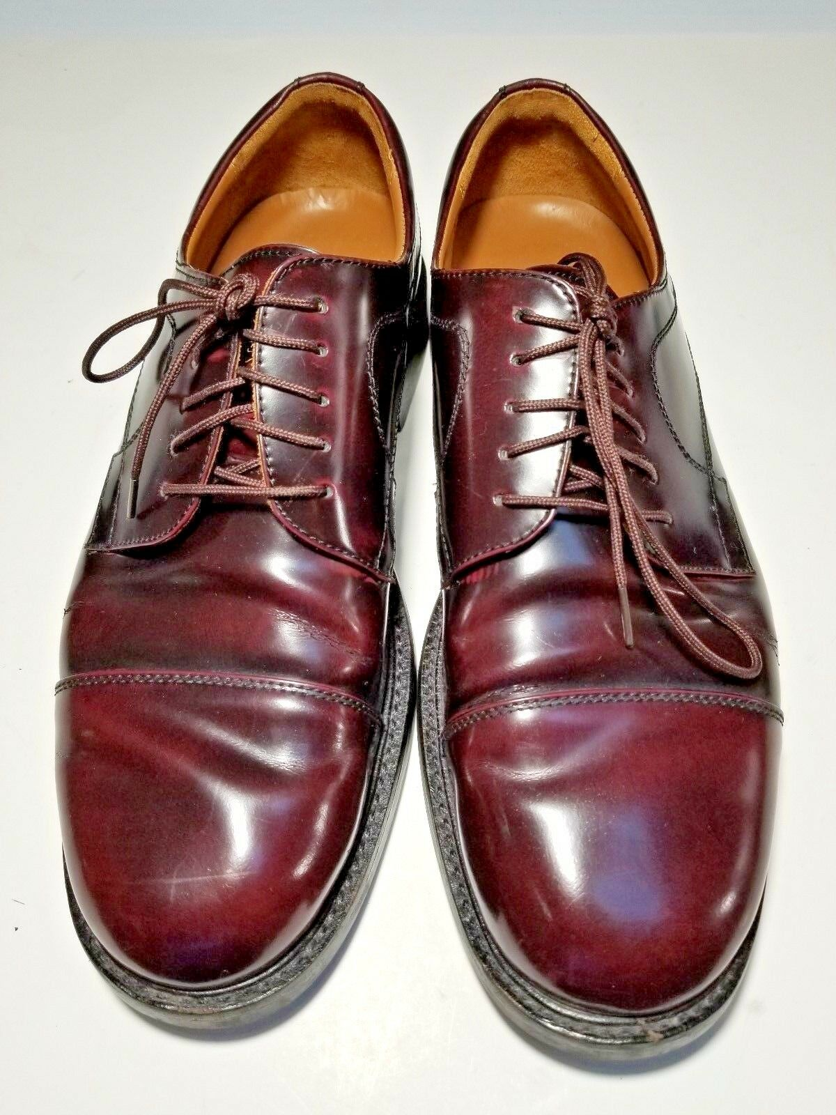 Johnston & Murphy Minzer Dark Burgundy Men's Cap Toe Oxfords Size 10.5