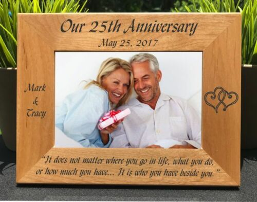 Personalized Engraved //// Wedding Anniversary //// Picture Frame