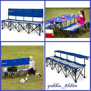 Image Is Loading Camping Bench Seat Chair Folding Outdoor Portable Sports