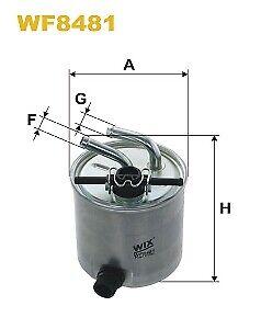 Wix WF8481 Fuel Filter for Nissan NP300 Navara Pathfinder with water sensor
