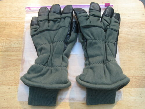 GENUINE US MILITARY INTERMEDIATE COLD WEATHER FLYERS GLOVES HAU15P MEDIUM 10H