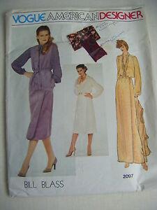 """"""" Bill Blass """" Vintage 1982 Vogue Américain Designer Gabarit #2097"""
