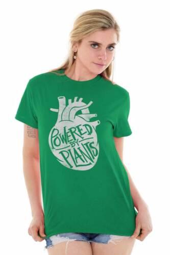 Powered By Plants Funny Vegan Vegetarian Gift Short Sleeve T-Shirt Tees Tshirts
