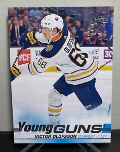 2019-20-Upper-Deck-Series-1-VICTOR-OLOFSSON-207-YOUNG-GUNS-RC-BUFFALO-SABRES
