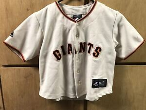 buy online 77fb6 bbcab Details about San Francisco Giants Jersey, Majestic, Sz Youth 6-8, MLB  Baseball,