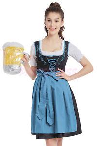 OP 331 Ladies Costume Fancy Dress Deluxe Oktoberfest German Wench Beer Maid 6-16