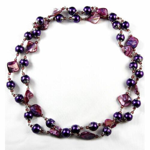 Seestern Lange Halskette exotischer Modeschmuck Perlenkette Perlmutkette