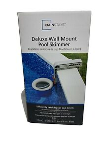 FREE AND FAST SHIPPING! Mainstays Deluxe Wall Mount Pool Skimmer for Pools