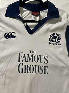 Men's Canterbury Scotland The Famous Grouse Rugby Union Shirt - Size L Jersey