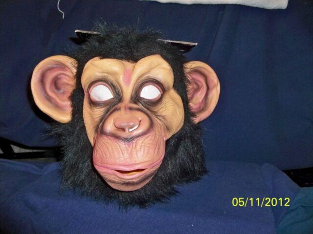 Chimp Monkey Mask Gorilla Ape Bruno Mars Lazy Song Animal Primate Fancy Dress