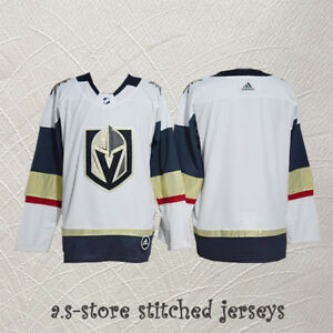 buy online dcc80 0ad8c Details about Men's Hockey Jersey Blank All Size M-3XL Sewn White Vegas  Golden Knights