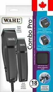 Wahl combo pro 18 piece haircutting kit with ergonomic clipper includes soft ...