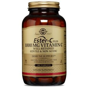 Solgar Ester-C Plus 1000 mg Vitamin C 180 Tablets FREE US SHIPPING
