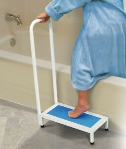 Bath Step Bathtub Shower Stool With Handle Nonslip