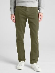 Gap-Men-039-s-Vintage-Wash-Khakis-in-Skinny-Fit-with-GapFlex-sz-34W-34L-NWT-RRP-90