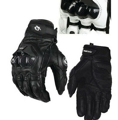 Motocross Cycling Racing Riding Mountain Bicycle Leather Motorcycle Armed Gloves