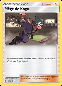 Lot de 2 Pokemon Piège de Koga Peu Commune SL10-177//214 VF Français
