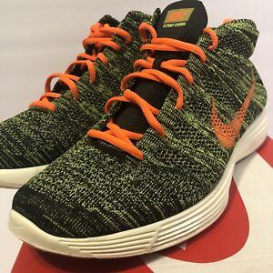 buy online c4fd9 2e55e La foto se está cargando Nike-Hombre-Lunar-Flyknit-Chukka -Sequoia-Naranja-Verde-
