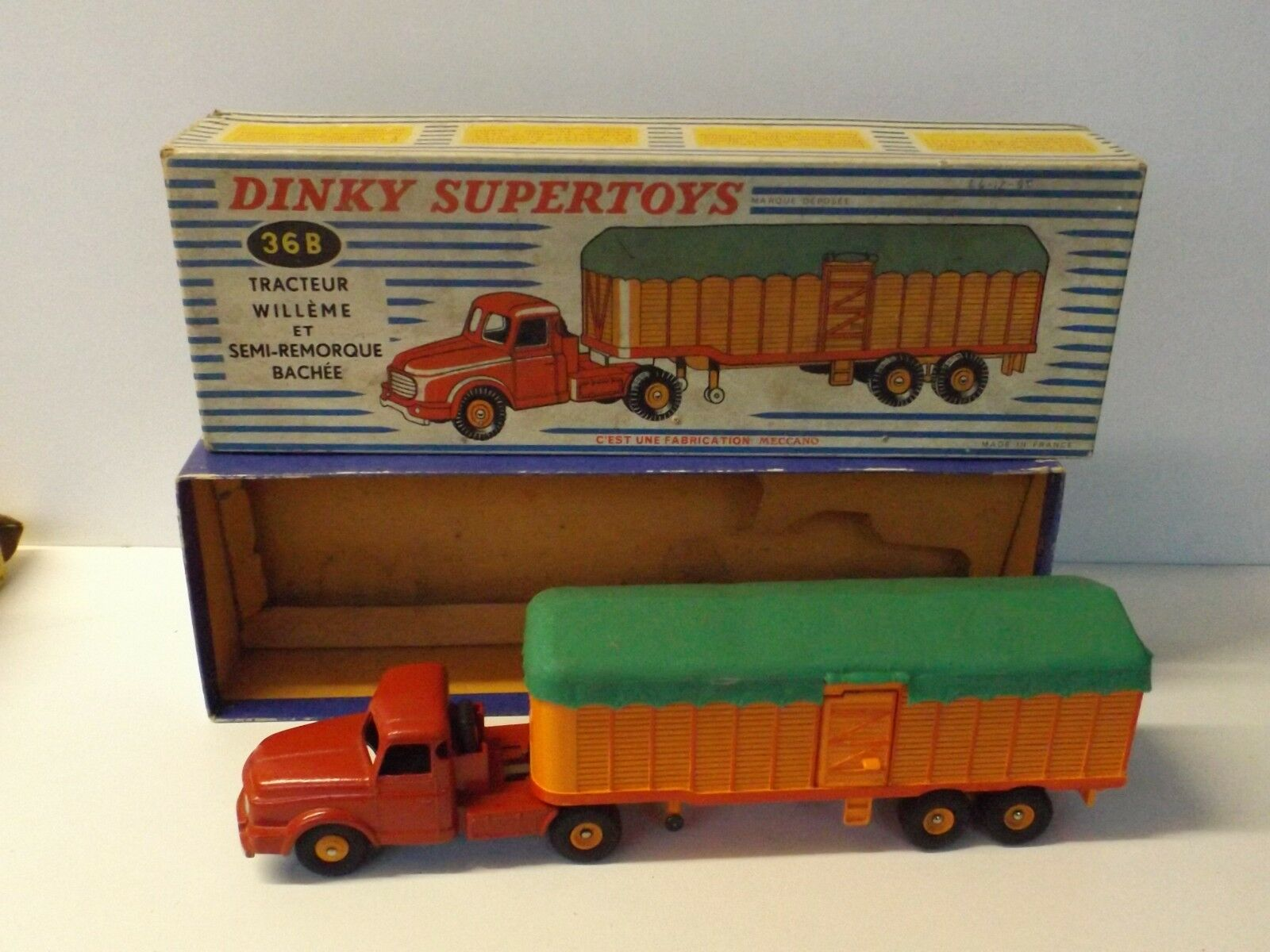 Dinky Supertoys Supertoys Supertoys Tacteur Willeme  Remorque Bachée  boite réf 36 B **L@@K** | Approvisionnement Suffisant  cf5e77