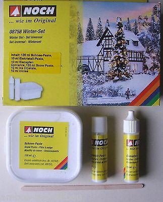 10,35€/100ml) NOCH 08758 Winter-Set, Schnee-/ Eiskristall-Paste, Eiszapfen,140ml