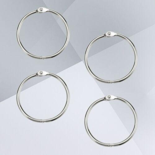 Loose Leaf Binder Rings Metal Clip Holder Book Ring for Paper Card Photo Binding