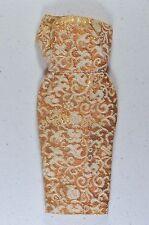 Vintage Barbie Evening Splendour Gold & White Brocade Coat