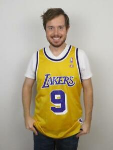 Champion Nick Van Exel Los Angeles Lakers NBA Jersey Mens 48 Large ... 101499bc1