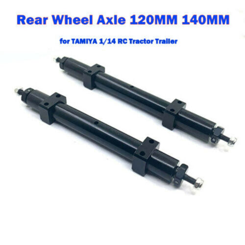 1pc Nicht angetriebene Hinterradachse 120MM 140MM für TAMIYA 1//14 RC Sattelzug