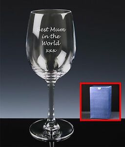 Personalised Red Wine Glass, Mother's Day, Gift For Mum, Best Mum In The World Jvxa5rr7-08004752-679023407