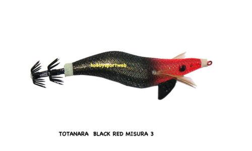 TOTANARA SQUID BLACK RED LUMINOUS  MIS 3 PESCA SEPPIA