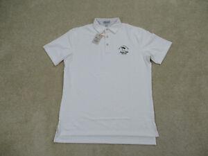 NEW-Peter-Millar-Polo-Shirt-Adult-Medium-White-Summer-Comfort-Golf-Mens