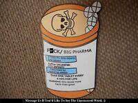 """RARE """"F*ck Big Pharma"""" Pin FREE SHIPPING (Heady Weed Dab 420 710 Lapel Hat Pins)"""