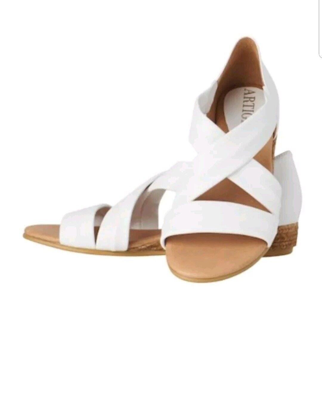 BRS Artigiano White Sandals Size EU 37     603734