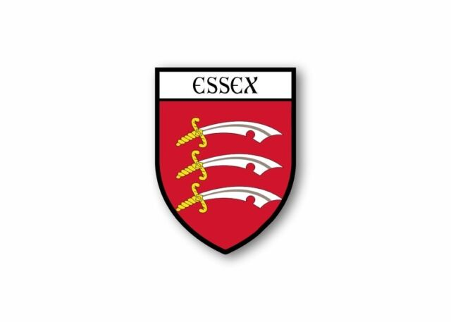 Sticker county shield car vinyl souvenir decal flag caravan crest essex