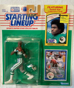RANDALL CUNNINGHAM STARTING LINEUP 1990 EDITION FEATURING 1985 ROOKIE YEAR CARD
