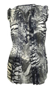 M-amp-Co-black-grey-print-sleeveless-sheer-chiffon-swing-blouse-with-frilled-shoul