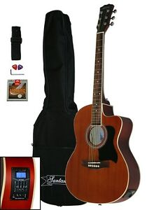 Santander-4-4-acustica-Western-guitarra-set-cutaway-voz-fonocaptor-Sapele