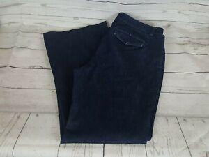 Express-Blue-Wash-Editor-Wide-Leg-Women-Jeans-Size-14-Regular