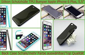 TPU Case Cover Tasche Silikon Bumper Apple iPhone 6 Plus Etui Schutz hülle Folie