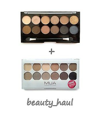 MUA UNDRESSED & UNDRESS ME TOO 12 Eyeshadow Palettes Nude Neutral / 2 PALETTES!