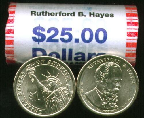 ~Head//Tail~ 2011 D MINT BU RUTHERFORD B HAYES $25 GOLD DOLLAR ROLL ~CHEAP~