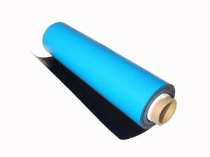 30mil-0-030-034-x-24-034-x-48-034-Flexible-Magnet-Roll-Blue-PVC-Vinyl-Finish