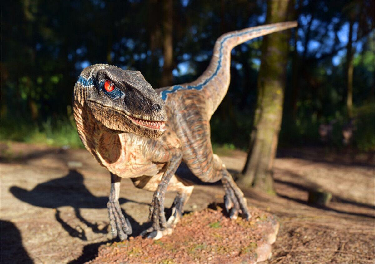 28  bluee Velociraptor 1 5 Statue Statue Statue Raptor Dinosaur Model Collector Decor Gift GK 207883