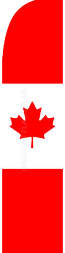 CANADA Canadian Country Swooper Banner Feather Flutter Bow Tall Curved Top Flag