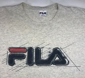 cbdfdce08ead9 Image is loading Vintage-Mens-XL-90s-FILA-Sport-Logo-Gray-